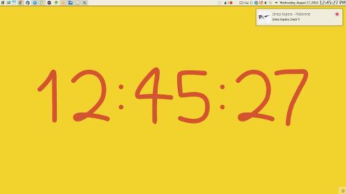 Часы на кривых Безье для рабочего стола KDE Plasma 5