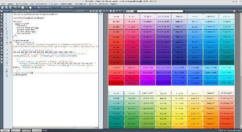Цветовая палитра Google Material design для LaTeX