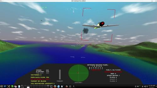 Скриншот: Linux Air Combat 3.42