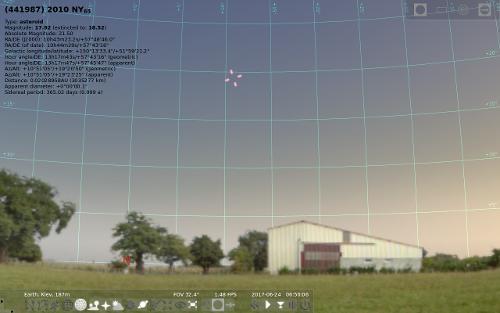 Астероид 2010 NY65. Утро 24 июня 2017