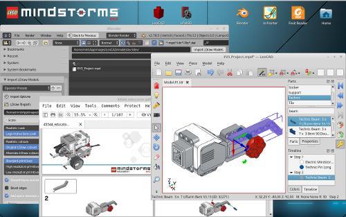 Конструирование роботов EV3 Education с помощью LeoCAD 17.07