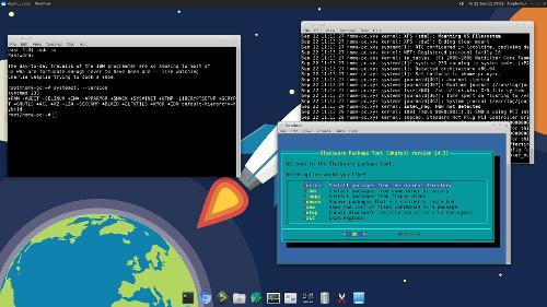 Скриншот: Slackware vs systemd