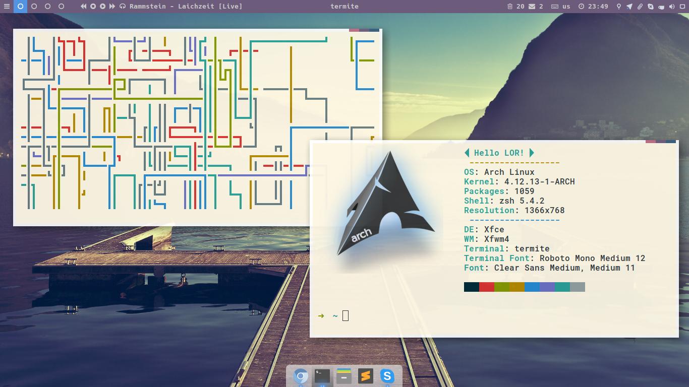 Arch xfce — Скриншоты — Галерея