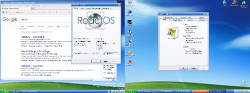 Эксплорер в ReactOS vs эксплорер Windows XP