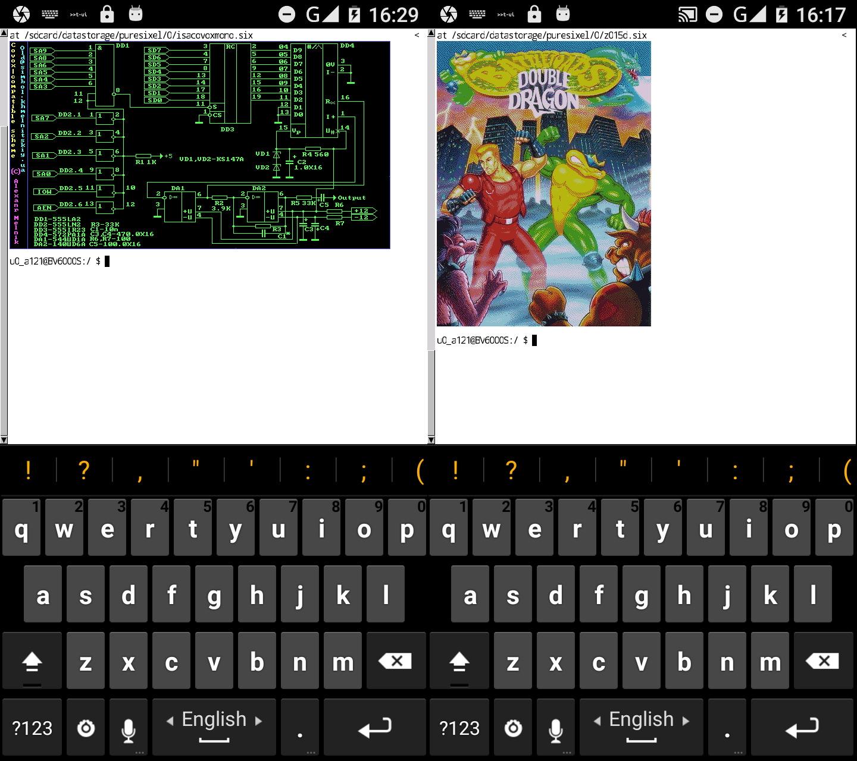 Эмулятор терминала mlterm с поддержкой формата sixel на Android'е