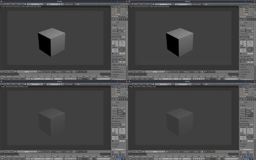 Рендеринг куба в Blender 2.78c и 2.79a