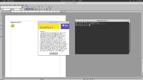 Debian 9.4 и Staroffice 7