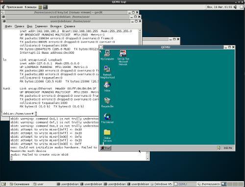 Debian 3.3 в qemu