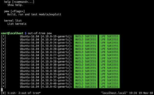 Релиз out-of-tree — утилиты для автоматизации разработки эксплоитов и модулей ядра Linux
