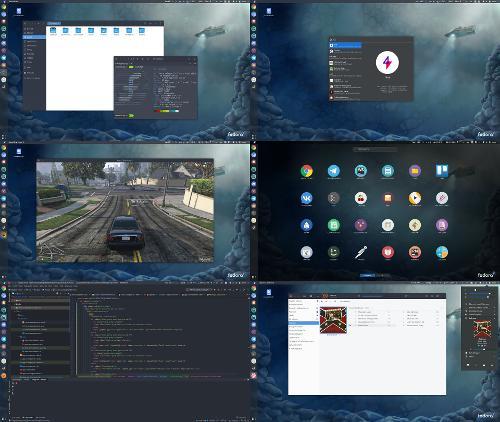Fedora на десктопе