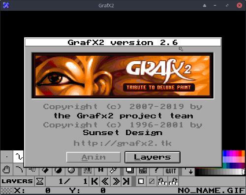 GrafX2 2.6 — свободный 256-цветный редактор пиксельной графики