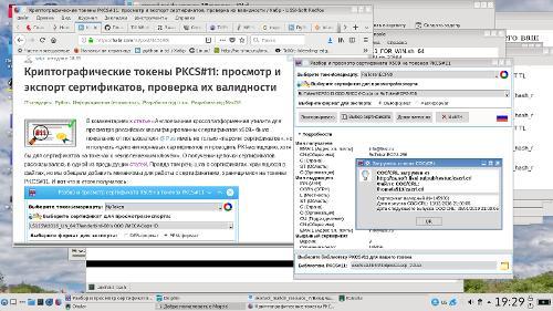 Криптографические токены PKCS#11: просмотр и экспорт сертификатов, проверка их валидности