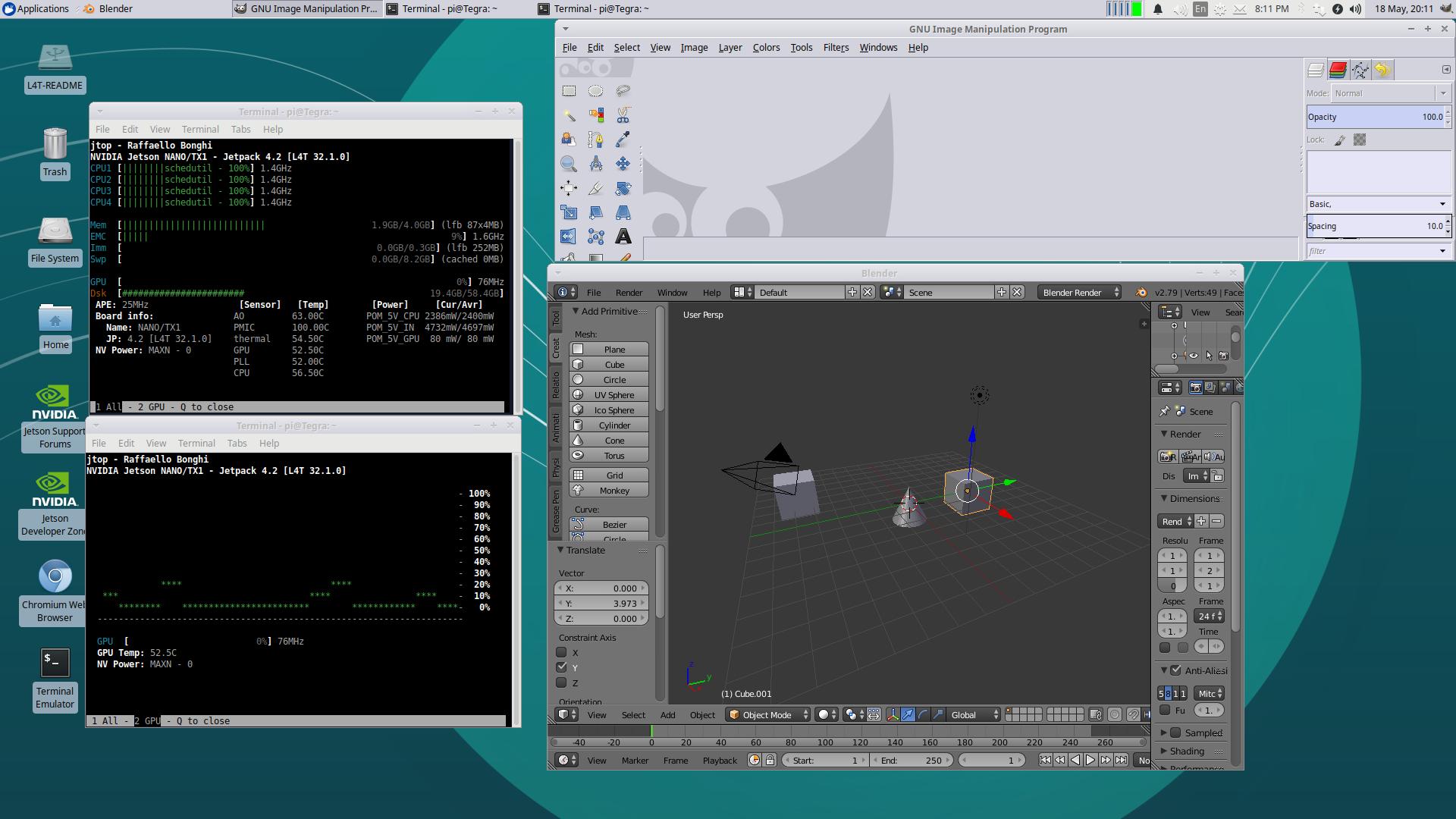 Jetson Nano / Ubuntu 18 04 — Скриншоты — Галерея
