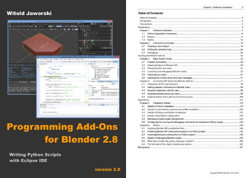 Опубликована книга «Programming Add-Ons for Blender 2.8»
