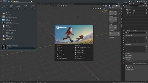 Настройка рабочего стола KDE для работы в Blender