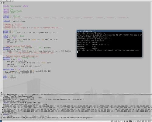 emacs 23 и wmii-3.5