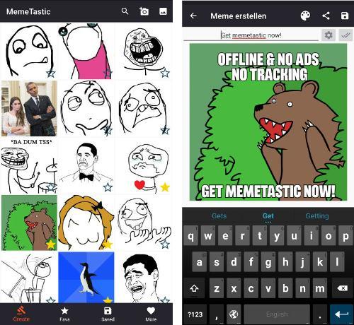 MemeTastic 1.6 — мобильное приложение для создания мемов на основе шаблонов