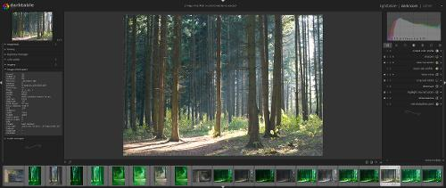 Скриншот: Darktable лучше чем Lightroom