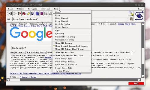 Mosaic— прародитель браузеров. Теперь в виде snap!