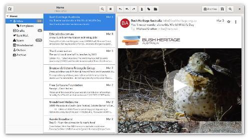 Geary 3.36— почтовый клиент для среды GNOME