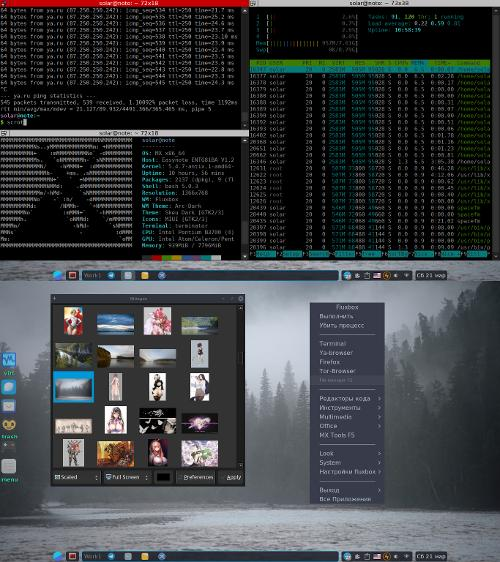 Домашний fluxbox на mx-linux
