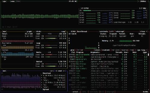 Первый релиз монитора системных ресурсов bpytop 1.0.0