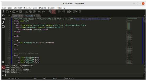 Выпуск редактора CudaText 1.110.3