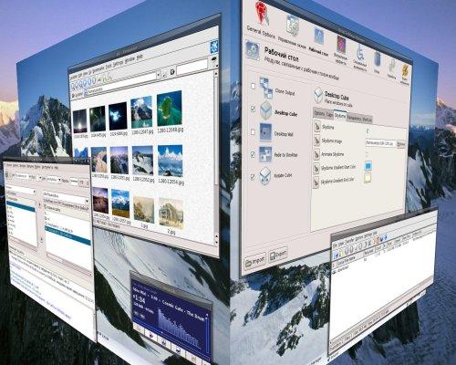 3D-десктоп на Debian+KDE