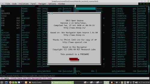 На github опубликован Linux порт Dos Navigator с открытым кодом