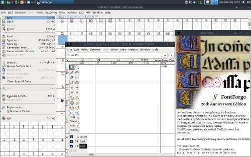 FontForge 20th Anniversary Edition