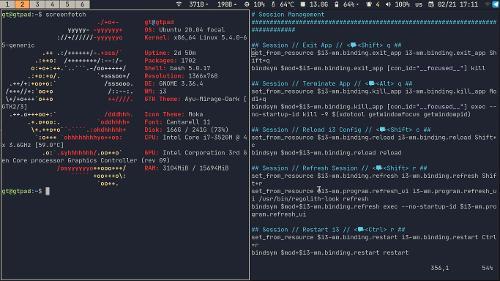 Regolith desktop на Thinkpad x220(230)