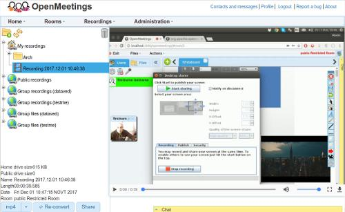 Релиз сервера web-конференций Apache OpenMeetings 6.0