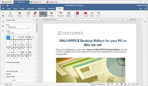 Выпуск офисного пакета OnlyOffice Desktop Editors версии 6.2