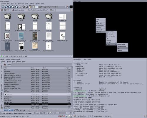 KDE + ion3