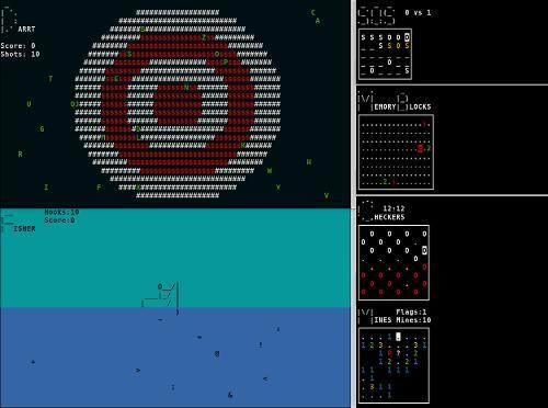 Новая версия коллекции ascii игр для терминала