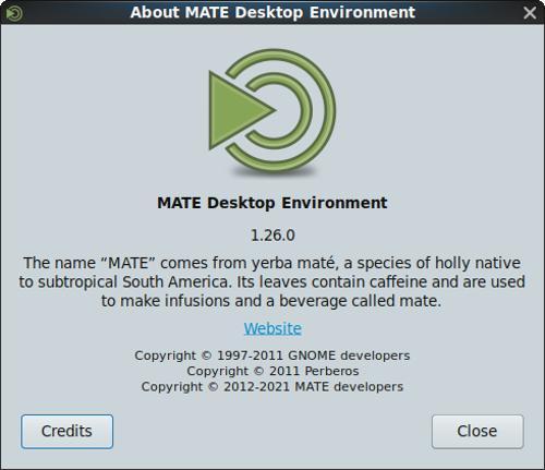 Выпуск среды рабочего стола MATE 1.26