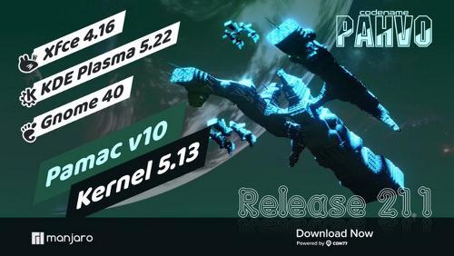 Manjaro Linux 21.1.0 Pahvo