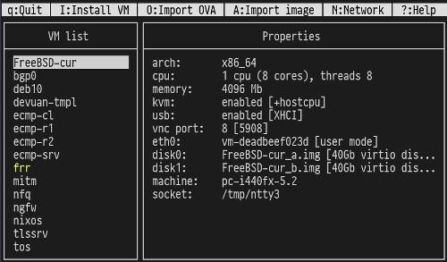 Релиз nEMU 3.0.0 — интерфейса к QEMU, основанного на псевдографике ncurses
