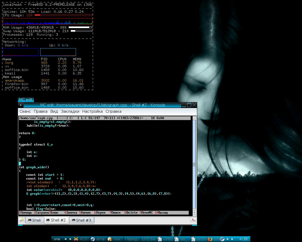 FreeBSD + fluxbox — Скриншоты — Галерея