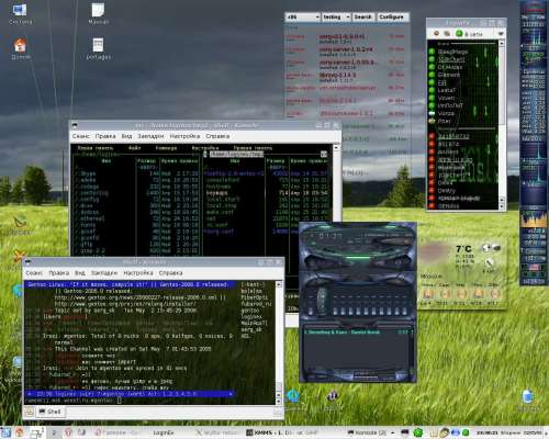 Gentoo 2005.1 stage1 + (emerge --sync) KDE 3.5.2