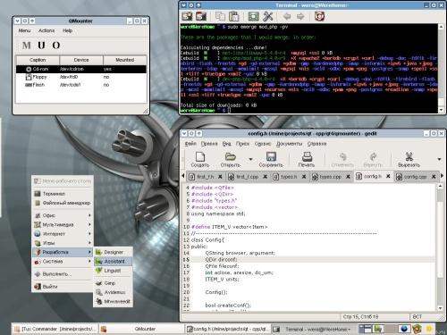 Xfce-4.2.3.2, Gedit... QT-4.1.0 ! ! !