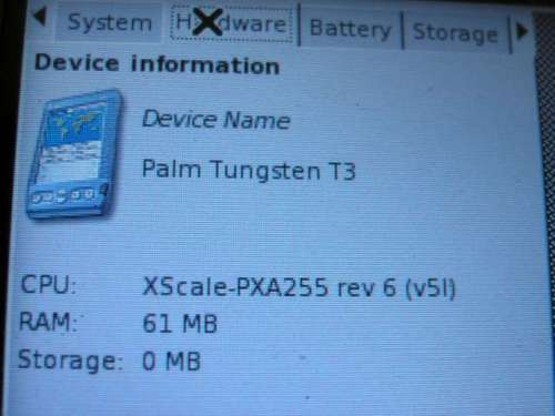 Linux на Palm T|T3