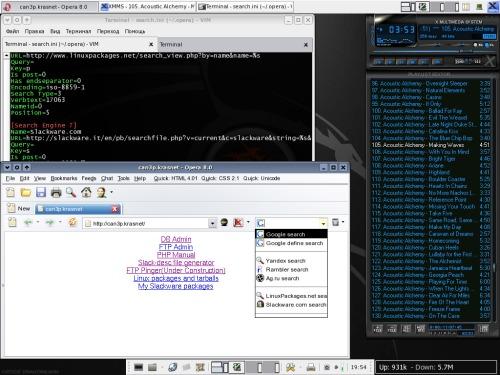 xfce 4 + opera