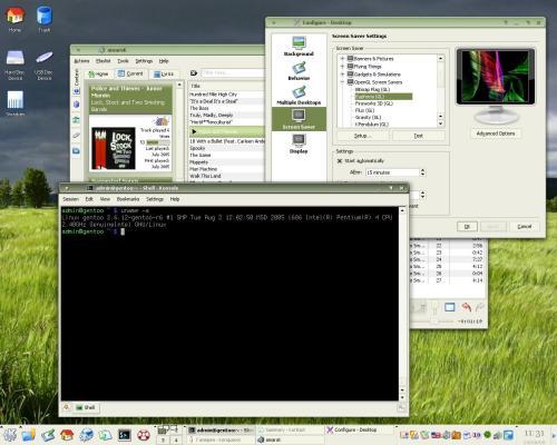 KDE десктоп