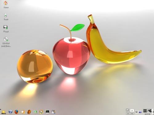 my 1st linux desktop