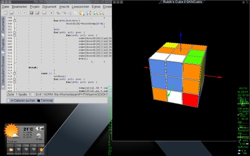 Мы писали кубик Рубика.