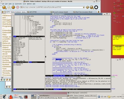 Удаленная работа в Emacs+ECB через xterm