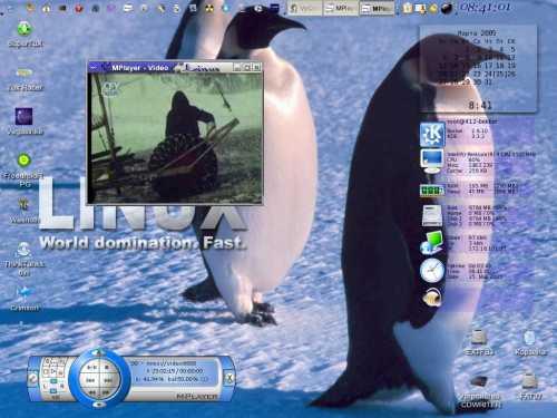 Мой рабочий десктоп Slackware 10.1 на работе