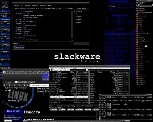 Slackware 10.0 Мой рабочий стол.