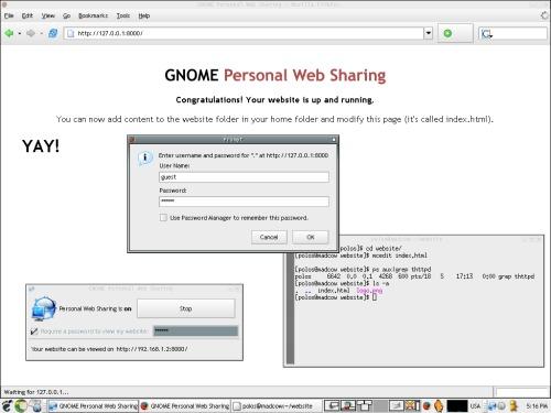 Personal Web Sharing